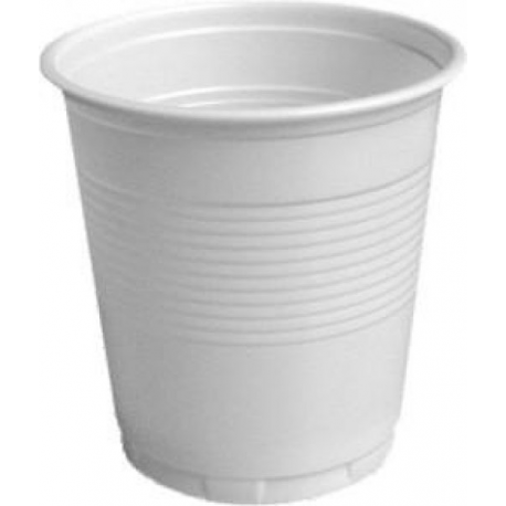 Plastové poháre biele 0,1l