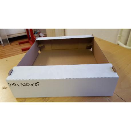 Krabica biela370x320x85