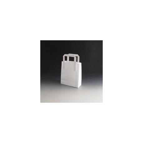 Papierová taška- BIELA 200x100x280 mm