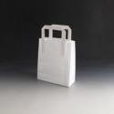 Papierová taška- BIELA 220x100x280 mm
