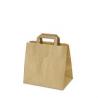 Papierová taška Hnedá s uškom 180x280x80mm