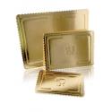 Podnos na TORTU obdlžnik 30x40 cm zlatá
