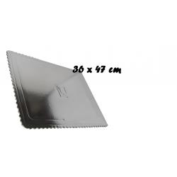Podnos na TORTU obdlžnik350x460 mm strieborny
