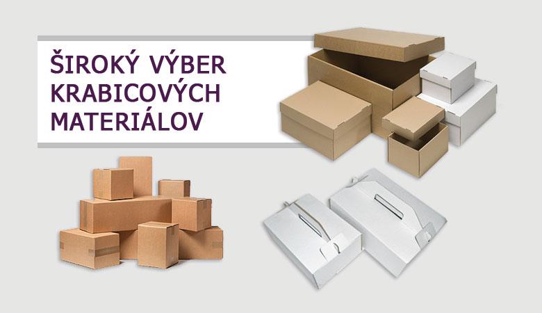 Široký výber krabicových materiálov